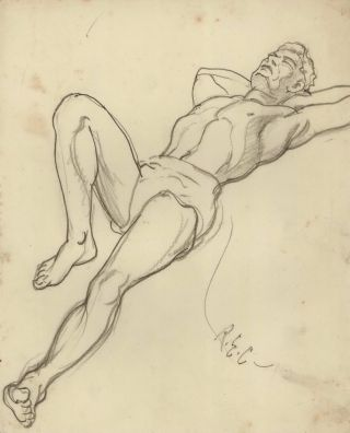 Reclining Man]. Robert Emerson Curtis, Aust