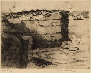 The Gap, Sydney Heads. A H. Fullwood, Aust