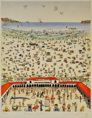 Made In Australia [Bondi Beach]. Peter Kingston, b.1943 Aust