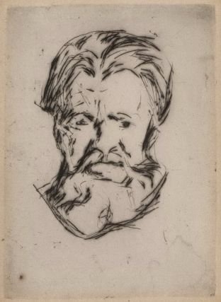 Head Of A Man. Edvard Munch, Norwegian