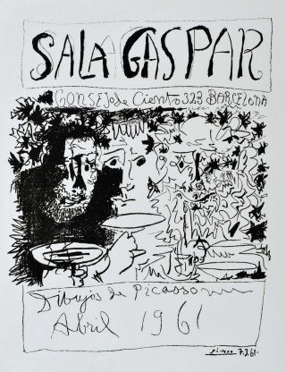 Sala Gaspar. Drawings By Picasso [Three Drinkers]. Pablo Picasso, Spanish