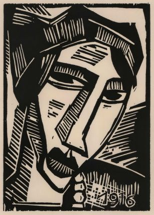 Frauenkopf (Head Of A Woman). Karl Schmidt-Rottluff, German
