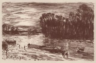 Bords Du Loing, Pres De Saint-Mammès (On The Banks Of The Loing, Saint-Mammès), Alfred Sisley,...
