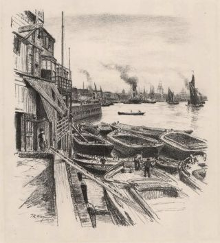 The Barge Builders. Thomas R. Way, British