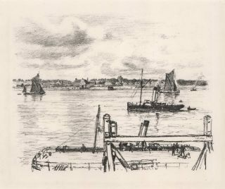 Harbour Scene]. Thomas R. Way, Brit