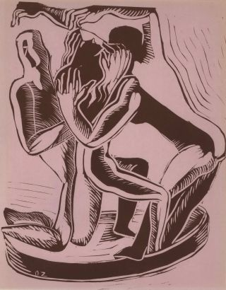 Three Figures. Ossip Zadkine, Russian/French