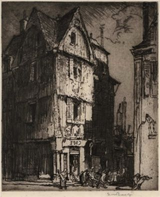 A Street In Tours No. 1 (Brussels). Frank Brangwyn, British