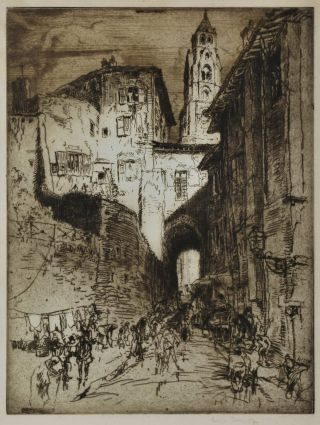 Street In Peking. Frank Brangwyn, British