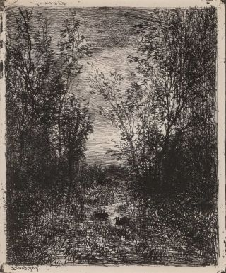 The Brook In The Clearing. Charles-François Daubigny, French