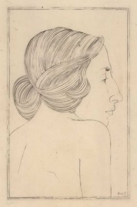 Portrait Of A Lady (Moira, Mrs Robert Gibbings). Eric Gill, British