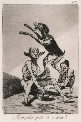 Aguarda Que Te Unten (Wait Till You've Been Anointed), Francisco de Goya, Spanish.