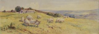 Manx Coast Near Peel, and [Pastoral Landscape With Sheep]