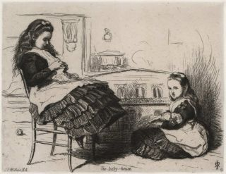 The Baby-House [Doll's House]. John Everett Millais, Brit