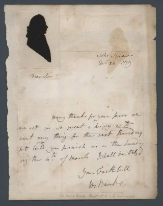 Sir Joseph Banks Letter With Silhouette
