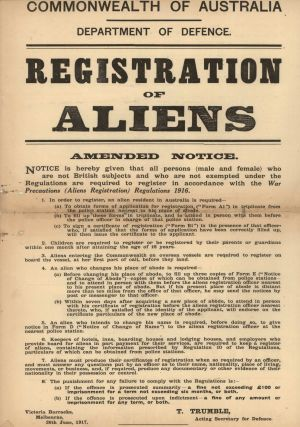 Registration Of Aliens