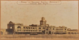 City Railway, Sydney. Proposed Circular Quay Station