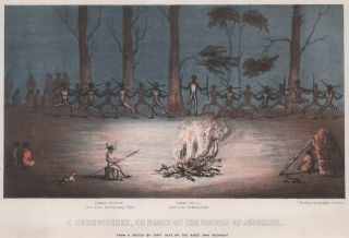 A Corrobbiree [Sic], Or Dance Of The Natives Of Australia. After Charles Staniforth Hext, British.