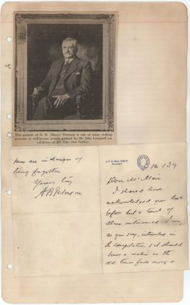 Banjo Paterson Autograph Letter And Ephemera