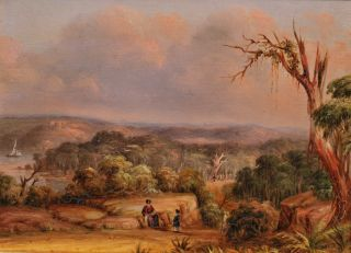 Port Jackson, NSW. View On The Vaucluse Road, Above Rose Bay. George E. Peacock, 1806-c1875 British/Australian.