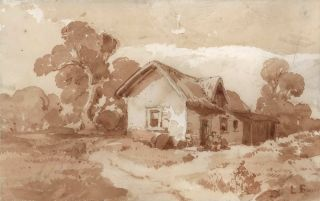 House In The Country]. Louis Buvelot, Swiss/Aust