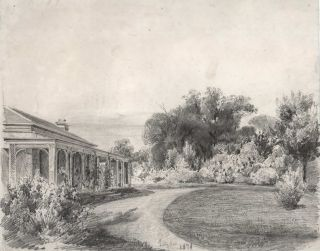 Lilydale, [Homestead In Victoria]. Attrib. Louis Buvelot, Swiss/Aust