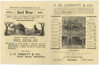 J.H. Abbott & Co., Pall Mall, Bendigo [Footwear Manufacturer And Retailer