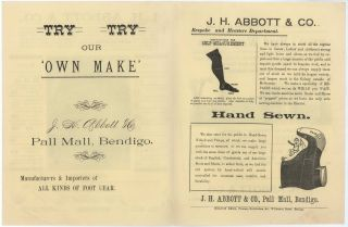 J.H. Abbott & Co., Pall Mall, Bendigo [Footwear Manufacturer And Retailer]