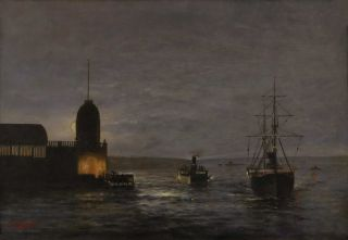 Sydney Harbour By Night]. Louis Jacobsen