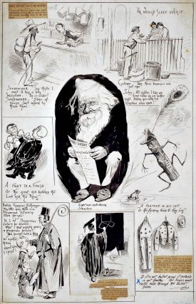 Henry Parkes, April Fool's Day Cartoons]. Livingston Hopkins, Amer./Aust