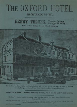 The Oxford Hotel, Sydney and Amateur Photography. Baker & Rouse, Photographic Materials...
