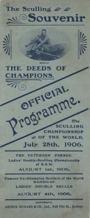 Official Programme. The Sculling Championship Of The World