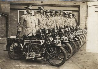 Some Of The NSW Police On AJS Motors