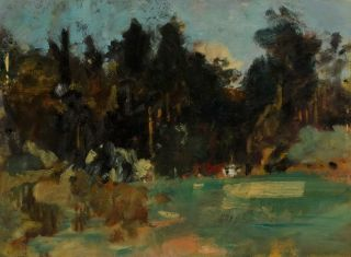 Unfinished Landscape. Miles Evergood, Australian
