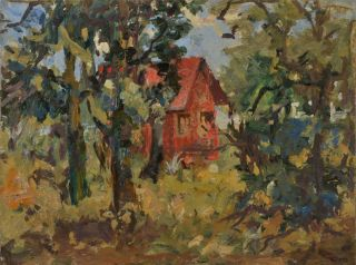The Red House. Miles Evergood, Australian
