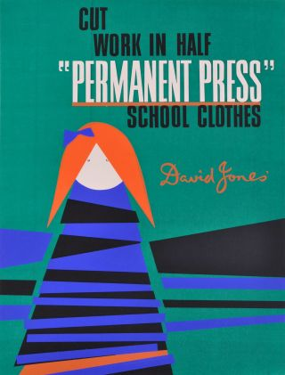 "Cut Work In Half: ""Permanent Press"" School Clothes. David Jones'"