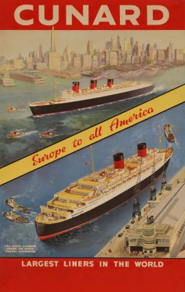 Cunard. Europe To All America