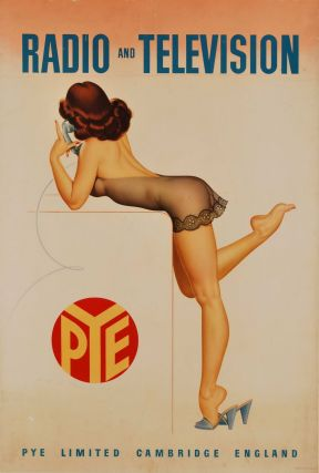 Pye Radio And Television [Brunette Woman With Phone]. Archie Dickens, Brit