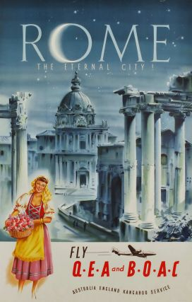 Rome. The Eternal City. Fly QEA And BOAC