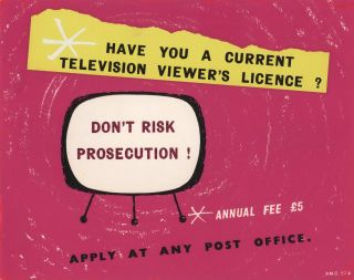 Have You A Current Television Viewer's Licence? Don't Risk Prosecution!