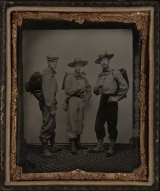 Portrait Of Three Miners