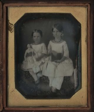 [Portrait Of Two Girls With A Doll, USA]