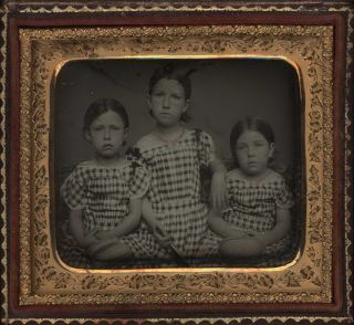 Portrait Of Three Girls, USA