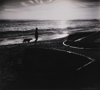 Beach Sunrise With Boy And Dog]. Max Dupain, Aust