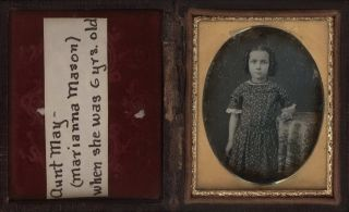 Marianna Mason, Aged 6, USA] and [Maria Booth Mason, Aged 8, USA