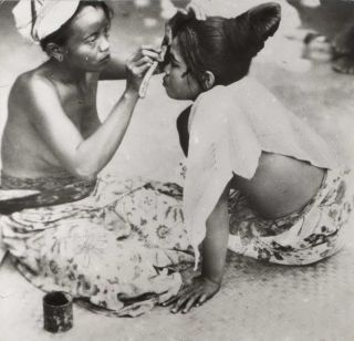 Beauty Treatment. Balinese Girls Making Up. E O. Hoppé, Brit