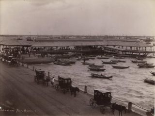 Johnston's Pier, Singapore. G R. Lambert, Co, active c1867-c1914 Singapore