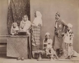 Malay Family. G R. Lambert, Co, active c1867-c1914 Singapore