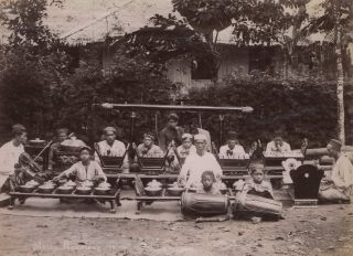 Malay Gamelong [Gamelan Ensemble]. G R. Lambert, Co, active c1867-c1914 Singapore