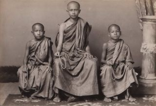 Buddhist Monks, Statues And Holy Places, Burma