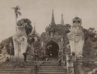 The South Gate, Shwe Dagon Pagoda, Rangoon [Burma